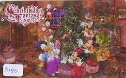 Télécarte Japon * 110-212029 * DISNEY (5190) MERRY CHRISTMAS * WEIHNACHTEN * TELEFONKARTE * PHONECARD JAPAN * - Disney