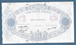 France 500 Francs Bleu Et Rose - 61-2-1933 - Fayette N°30-36 - B/TB - 1871-1952 Circulated During XXth