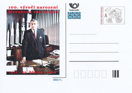 Tchéquie / Cartes Post. (Pre2012/16) Wernher Von Braun (1912-1977); Ingénieur Aérospatial Allemand Et Américain - 2. Weltkrieg