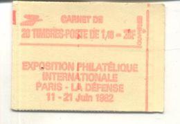 Carnet Marianne 20 X 1.40 Fr Philexfrance 82 - Carnets