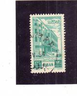 LIBANO LEBANON LIBAN 1953 Postal Administration Building PALAZZO DELLE POSTE 12.50p USATO USED OBLITERE' - Libano