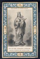 Santino.053 Nostra Signora Del Sacro Cuore 1870 - Old Paper