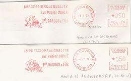 2 EMA FRANCE 16 LA COURONNE ANGOULEME CHARENTE IMPRESSION IMPRIMERIE PAPIER BIBLE PAPER BARDOU QUALITE QUALITAT QUALITY - Berufe