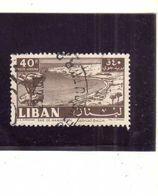 LIBANO LEBANON LIBAN 1961 AIR MAIL POSTA AEREA BAIE DE MAAMELTEIN BAY BAIA CASINO 40p USATO USED OBLITERE' - Libano