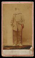 Photo Cdv 10.5 X 6 - Portrait D'un Militaire Artilleur --- Del476 - Guerre, Militaire