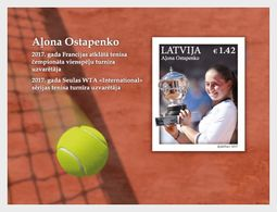 Letland / Latvia - Postfris / MNH - Sheet Roland Garros, Ostapenko 2017 - Letland