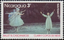 """NICARAGUA - Scott #1058 Scenes From The Ballet """"The Nutcracker"""" By Peter Tchaikovsky / Mint NH Stamp - Dance"""