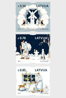 Letland / Latvia - Postfris / MNH - Complete Set Kerstmis 2017 - Letland