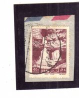 LIBANO LEBANON LIBAN 1961 AIR MAIL POSTA AEREA AERIENNE AFKA FALLS CASCATE 40p USATO USED OBLITERE' - Libano
