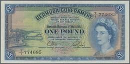 Bermuda: 1 Pound 1957, P.20b, Almost Perfect Condition With A Few Tiny Creases In The Paper. Conditi - Bermudas