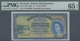 Bermuda: 1 Pound 1966 P. 20d, PMG Graded 65 Gem UNC EPQ. - Bermudas