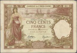 Djibouti / Dschibuti: Banque De L'Indo-Chine 500 Francs March 8th 1938, P.9b, Still Great Condition - Djibouti