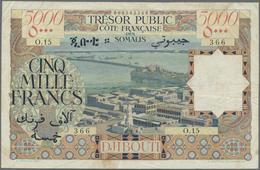 Djibouti / Dschibuti: 5000 Francs ND(1952) CÔTE FRANÇAISE DES SOMALIS TRÉSOR PUBLIC P. 29, Used With - Djibouti