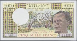 Djibouti / Dschibuti: Seldom Seen 5000 Francs ND(1979-2002) Specimen / Proof P. 38s Without Watermar - Djibouti