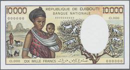 Djibouti / Dschibuti: 10.000 Francs ND(1984-99) Specimen P. 39bs, Seldom Seen With Zero Serial Numbe - Djibouti
