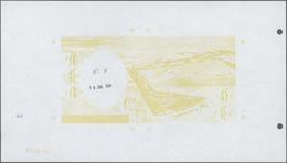 Djibouti / Dschibuti: Highly Rare Archival Back Proof Print Of The Banque De France For The 10.000 F - Djibouti