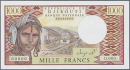 Djibouti / Dschibuti: Rare Set Of 3 Specimen Notes Containing 1000, 500 And 10.000 Francs ND(1984-99 - Djibouti