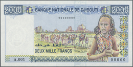 Djibouti / Dschibuti: 2000 Francs ND Specimen P. 40s, With Specimen Perforation And Zero Serial Numb - Djibouti