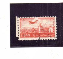 LIBANO LEBANON LIBAN 1952 AIR MAIL POSTA AEREA AERIENNE BEIRUT Khalde International Airport 20p USATO USED OBLITERE' - Libano