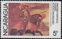 NICARAGUA - Scott #1070 Charles V  In Battle Of Muhiberg By Titian / Mint NH Stamp - Art
