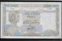 France 500 Francs La Paix - 20-6-1940 - Fayette N°32-3 - TTB - 1871-1952 Gedurende De XXste In Omloop