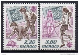 Monaco - 1989 - Yvert N° 1686 & 1687 **  - Europa - Nuovi