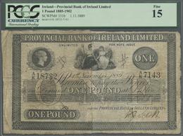 Ireland / Irland: Provincial Bank Of Ireland Ltd. 1 Pound 1889 P. 331b, PCGS Graded 15 Fine. - Ireland