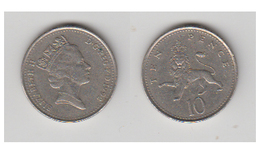 ANGLETERRE - 10 NEW PENCE 1992 - 1971-… : Monnaies Décimales