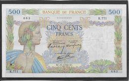 France 500 Francs La Paix - 25-7-1940 - Fayette N°32-5 - TTB/SUP - 1871-1952 Gedurende De XXste In Omloop