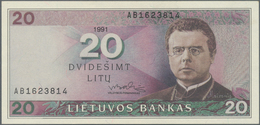 Lithuania / Litauen: 20 Litu 1991 P. 48 In Condition: UNC. - Lithuania
