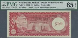 Netherlands Antilles / Niederländische Antillen: 500 Gulden 1962, P.7a In Perfect Condition, PMG Gra - Netherlands Antilles (...-1986)