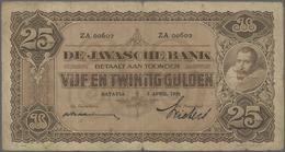 Netherlands Indies / Niederländisch Indien: Highly Rare Set Of 9 Banknotes Containing 4 X 25 Gulden - Dutch East Indies