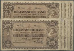 Netherlands Indies / Niederländisch Indien: Set Of 10 Notes 25 Gulden 1929/1930 P. 71, All In Simila - Dutch East Indies