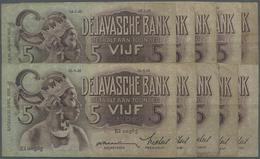 Netherlands Indies / Niederländisch Indien: Set Of 10 Notes 5 Gulden 1934-1936 P. 78, All In Similar - Dutch East Indies