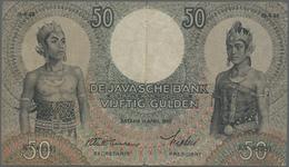 Netherlands Indies / Niederländisch Indien:  Javasche Bank 50 Gulden April 19th 1938, P.50, Vertical - Dutch East Indies