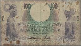 Netherlands Indies / Niederländisch Indien: 100 Gulden 1938 P. 82 In Used Condition With Stronger Fo - Dutch East Indies