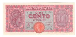 100 LIRE ITALIA TURRITA 10 12 1944 Q.FDS  LOTTO 892 - 100 Lire