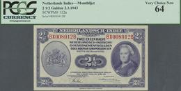 Netherlands Indies / Niederländisch Indien: Set Of 2 CONSECUTIVE Notes 2 1/2 Gulden 1943 P. 112a, Bo - Dutch East Indies