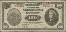 Netherlands Indies / Niederländisch Indien: Set Of 2 Notes Containing 25 And 100 Gulden 1943 P. 115, - Dutch East Indies