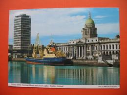 Liberty Hall,Customs House And River Liffey,Dublin.T JUGOSLAVIJA.TUG BOAT? - Dublin