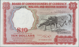 Malaya & British Borneo: 10 Dollars March 1st 1963, P.9a In Excellent Condition With A Few Minor Cre - Malaysia