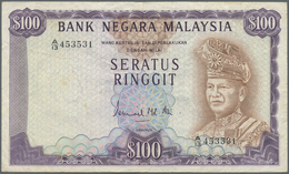 Malaysia: Bank Negara Malaysia 100 Ringgit ND(1976-81), P.17, Still Nice And Attractive Note With A - Malaysia