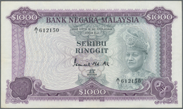 Malaysia: Rare Note Of 1000 Ringgit ND P. 18, Very Very Light Hand Hard To See Center Bend, Light Ha - Malaysia