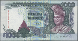 Malaysia: 1000 Ringgit ND P. 34, In Condition: AUNC. - Malaysia
