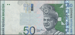 Malaysia: 50 Ringgit ND(1998-2001) P. 43 Error Print, Front Print Is Shiftet As Well As The Back Pri - Malaysia