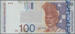 Malaysia: 100 Ringgit ND(1996-2001) P. 44 With Error Print Of The Portrait Color, Light Folds In Pap - Malaysia