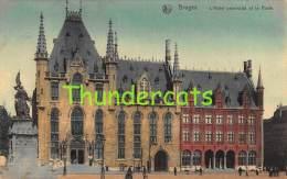 CPA BRUGGE BRUGES L'HOTEL PROVINCIAL ET LA POSTE - Brugge