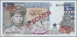 Mauritania / Mauretanien: Banque Centrale De Mauritanie 100 Ouguiya 1975 De La Rue SPECIMEN, P.3As I - Mauritania