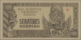 Netherlands Indies / Niederländisch Indien: 100 Rupiah ND(1944) P. 132a, Japanese Occupation Dai Nip - Dutch East Indies