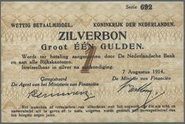 Netherlands / Niederlande: 1 Gulden 1914 P. 4a, Never Folded, No Holes Or Tears, Crisp Paper, A Few - Netherlands